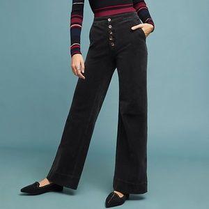 Pilcro Ultra High-Rise Corduroy Wide-Leg Jeans